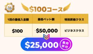 100ドルコース