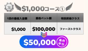 1000ドルコース1