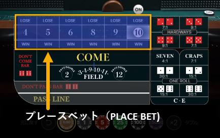 プレースベットの賭け方